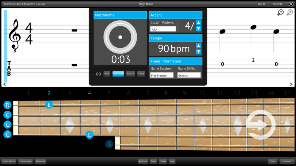 Purely Banjo Screenshot Custom Metronome